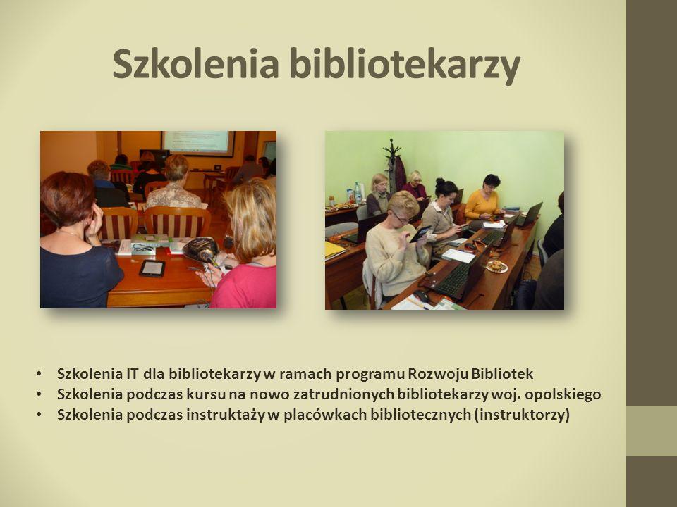 Szkolenia bibliotekarzy Szkolenia IT dla bibliotekarzy w ramach programu Rozwoju Bibliotek Szkolenia podczas kursu na nowo zatrudnionych bibliotekarzy