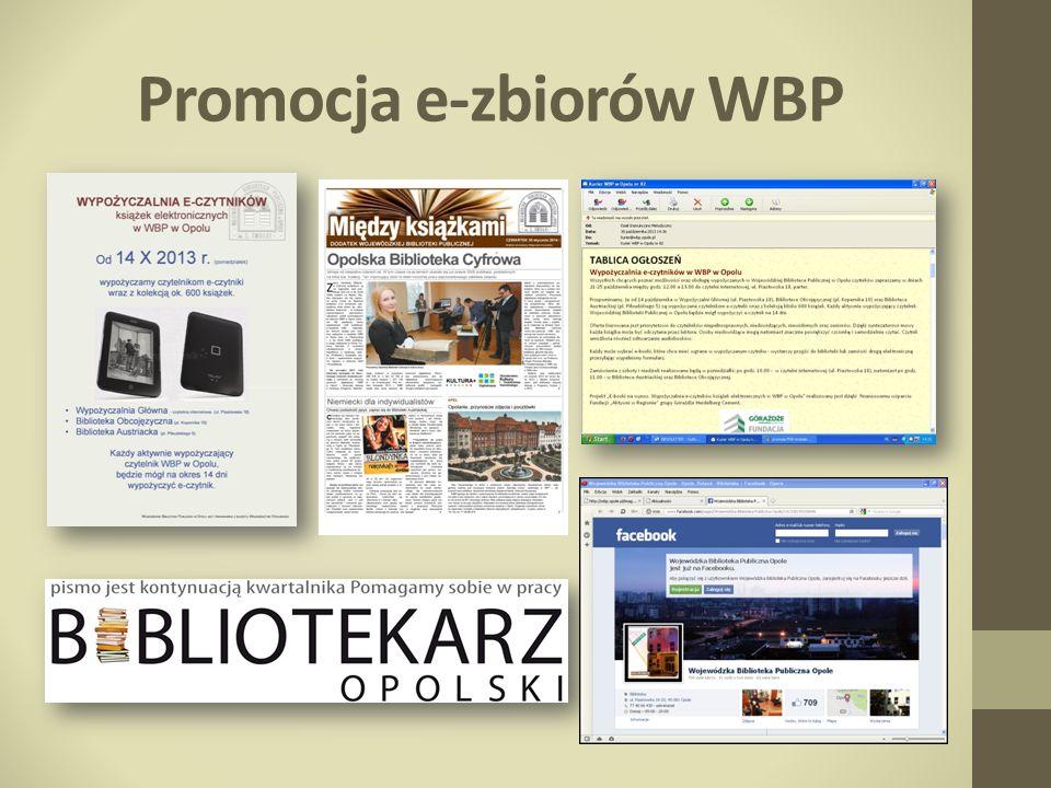 Promocja e-zbiorów WBP