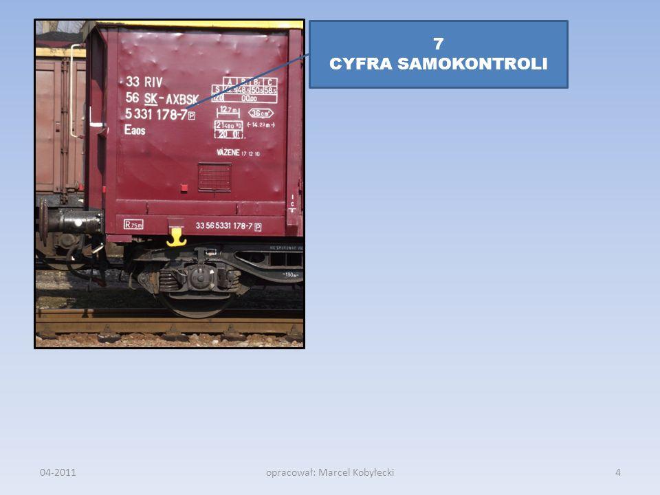 04-2011opracował: Marcel Kobyłecki 7 CYFRA SAMOKONTROLI 4