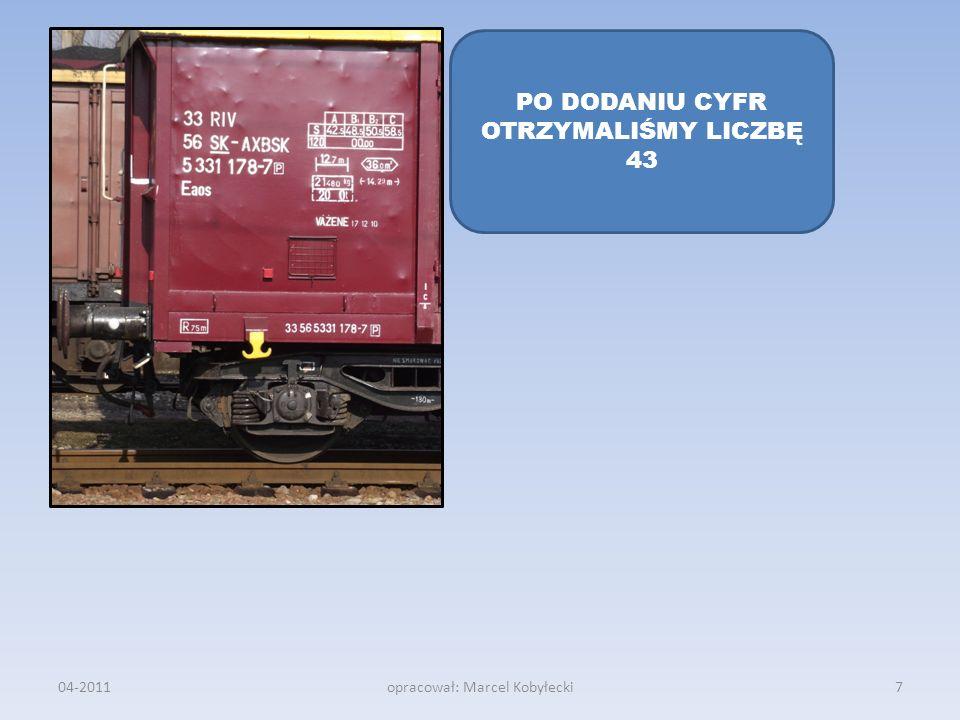 04-2011opracował: Marcel Kobyłecki PO DODANIU CYFR OTRZYMALIŚMY LICZBĘ 43 7