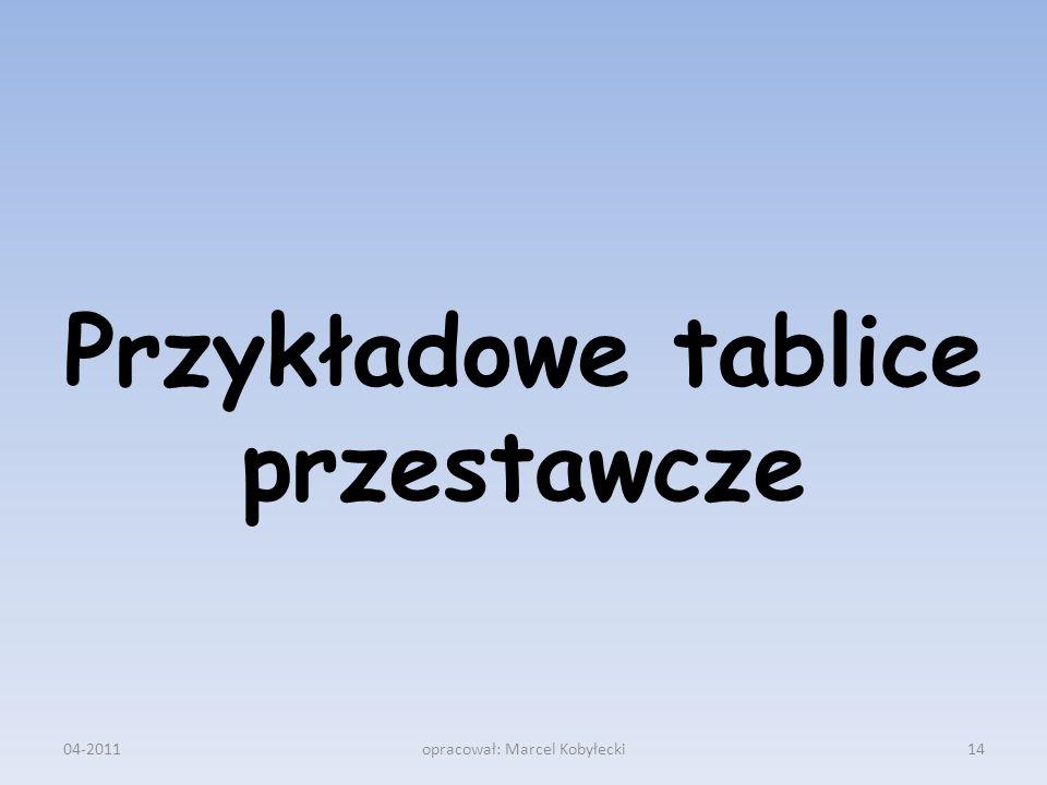 Przykładowe tablice przestawcze 04-201114opracował: Marcel Kobyłecki