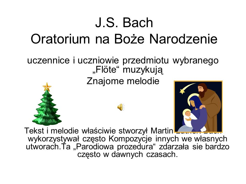 J.S. Bach Menuett fait pour Mons. Böhm Dzieci wybranego przedmiotu Flöte muzykują wspólnie