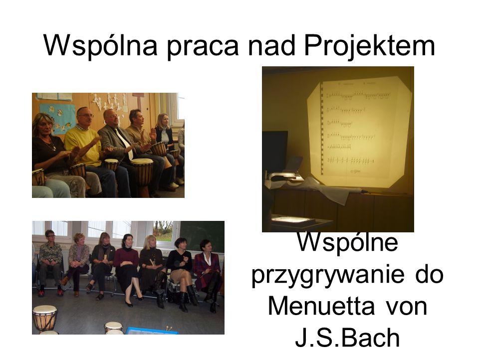 Powitalna uroczystość przy wejściu do Florenbergszkoły Nasi Koledzy z Angli, Polski i Turcji w gościni w Künzell