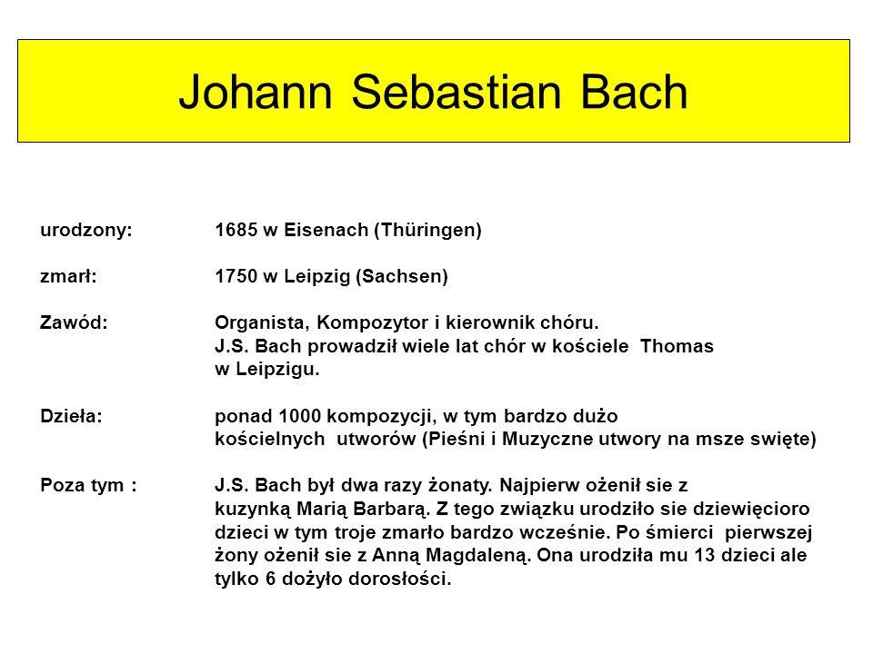 Komponiści Frédéric Chopin Johann Sebastian Bach Asik Veysel Gustav Holst