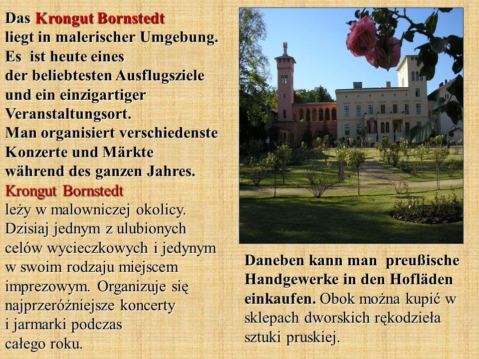 Das Krongut Bornstedt liegt in malerischer Umgebung.