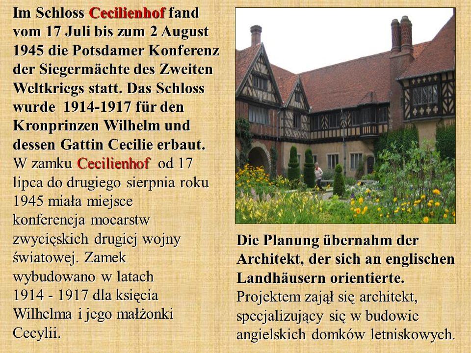 Die Planung übernahm der Architekt, der sich an englischen Landhäusern orientierte.