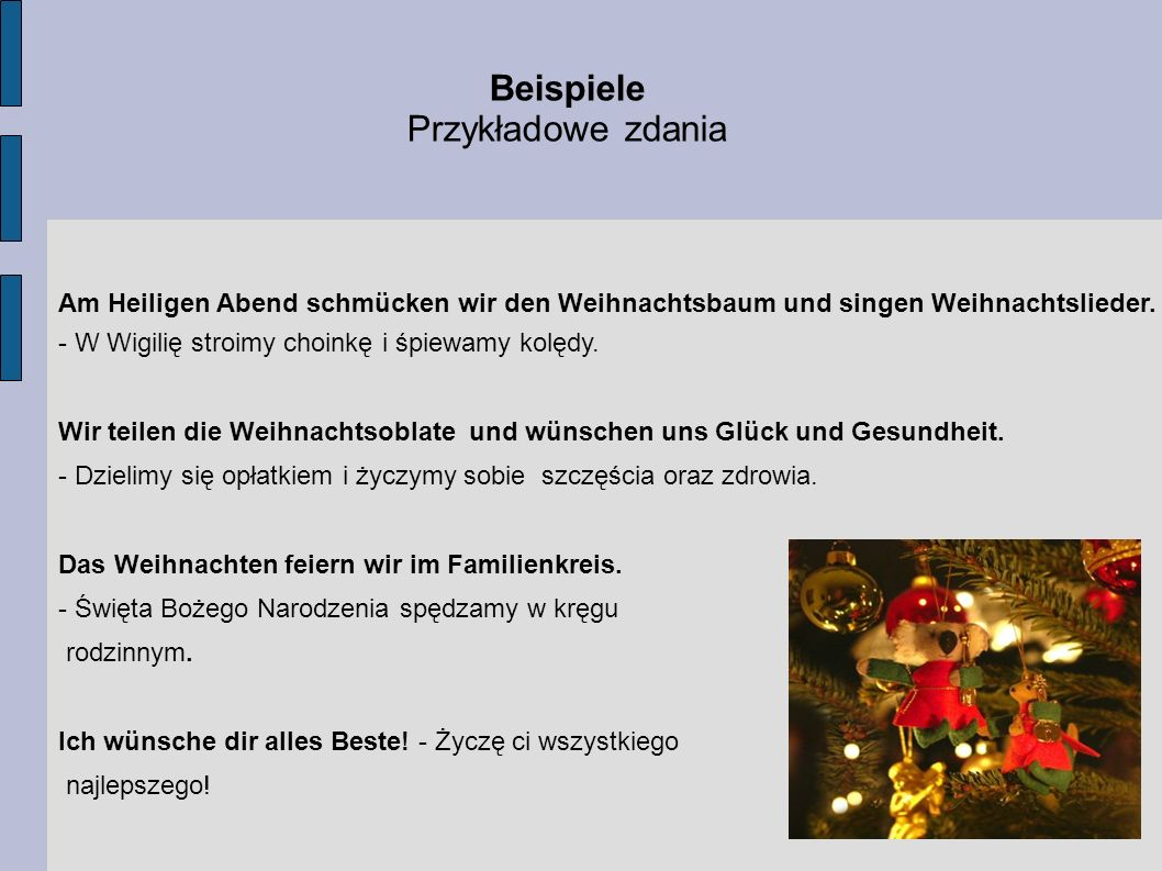 Wir wünschen uns...Życzymy sobie... …Frohe Weihnachten und einen Guten Rutsch ins Neue Jahr 2010.