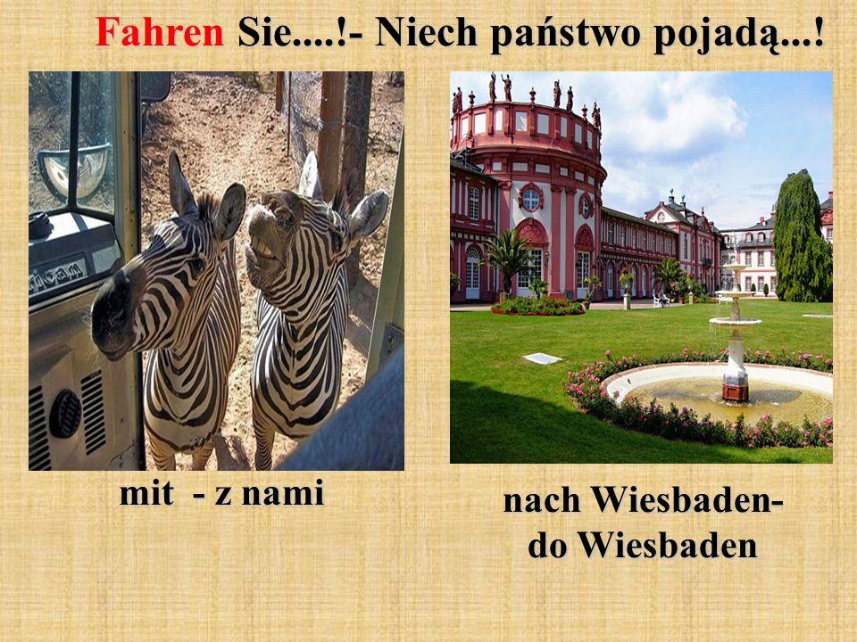 Fahren Sie....!- Niech państwo pojadą...! mit - z nami nach Wiesbaden- do Wiesbaden