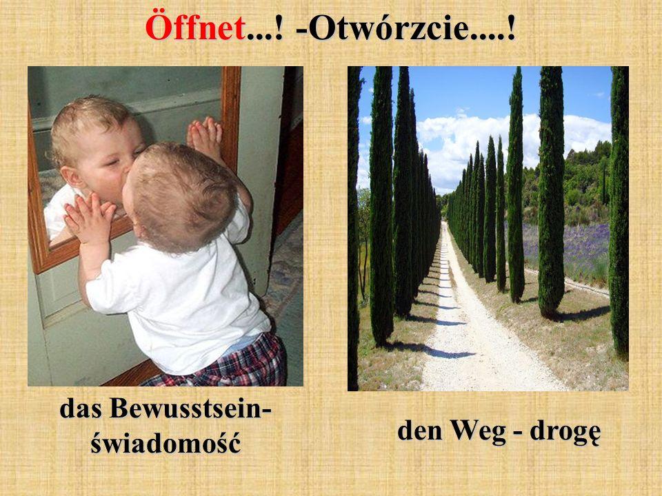 Öffnet...! -Otwórzcie....! das Bewusstsein- świadomość den Weg - drogę