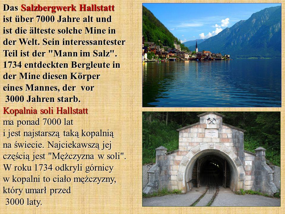 Das Salzbergwerk Hallstatt ist über 7000 Jahre alt und ist die älteste solche Mine in der Welt. Sein interessantester Teil ist der