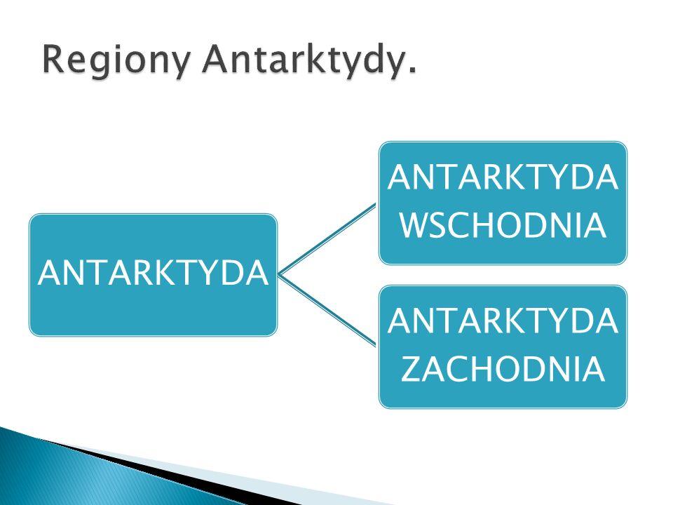 ANTARKTYDA ANTARKTYDA WSCHODNIA ANTARKTYDA ZACHODNIA