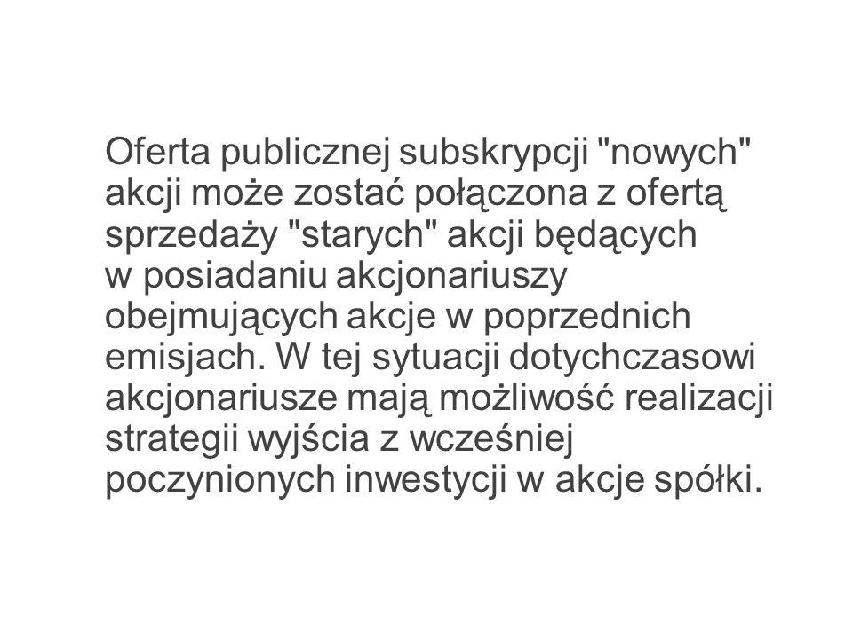 Oferta publicznej subskrypcji