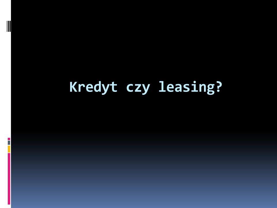 Kredyt czy leasing?