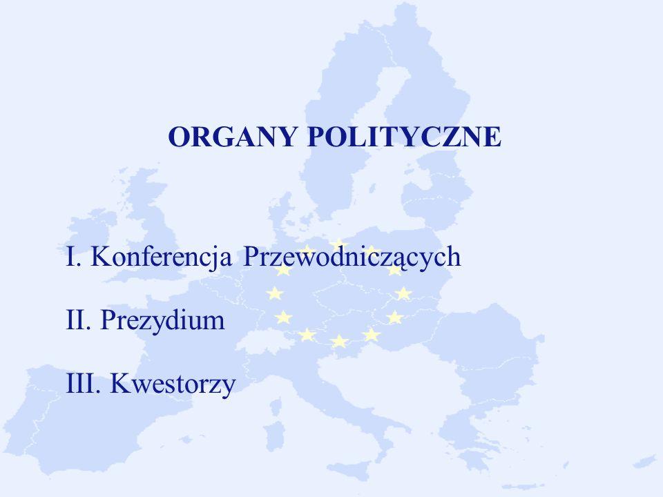 ORGANY POLITYCZNE I. Konferencja Przewodniczących II. Prezydium III. Kwestorzy