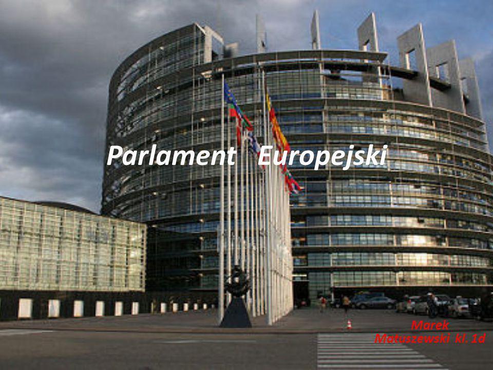 Parlament Europejski Marek Matuszewski kl. 1d