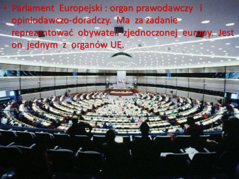 Parlament Europejski : organ prawodawczy i opiniodawczo-doradczy.