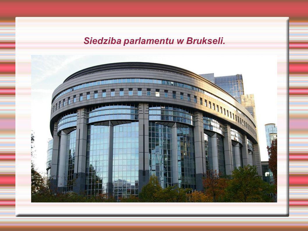 Siedziba parlamentu w Brukseli.