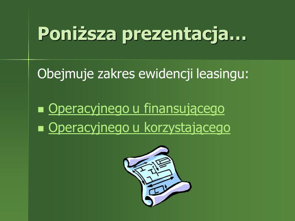 Rozwiązanie: Operacje gospodarcze: 1.