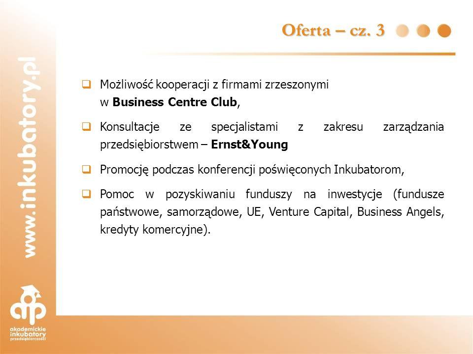 Możliwość kooperacji z firmami zrzeszonymi w Business Centre Club, Konsultacje ze specjalistami z zakresu zarządzania przedsiębiorstwem – Ernst&Young