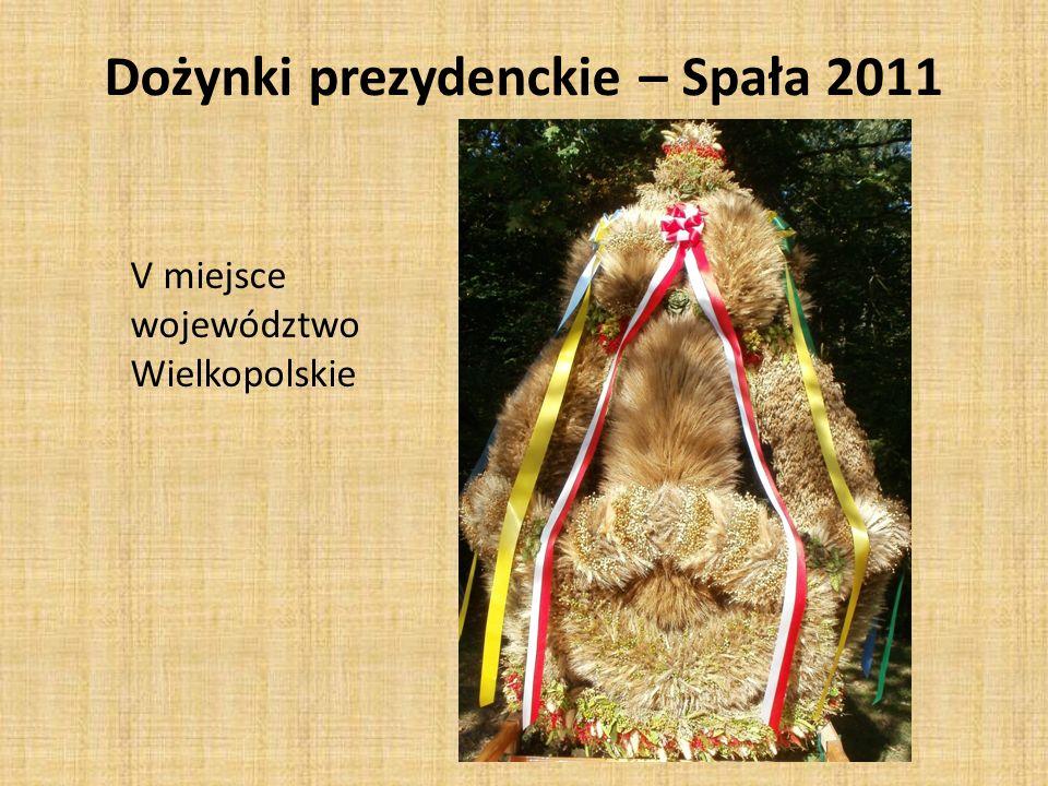V miejsce województwo Wielkopolskie Dożynki prezydenckie – Spała 2011