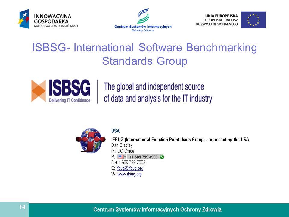 14 ISBSG- International Software Benchmarking Standards Group