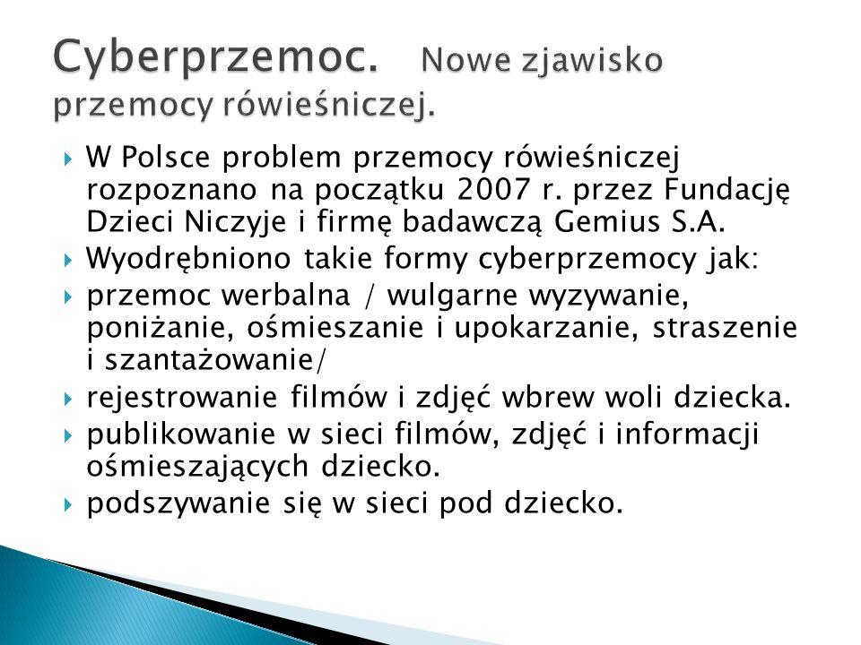 W Polsce problem przemocy rówieśniczej rozpoznano na początku 2007 r.
