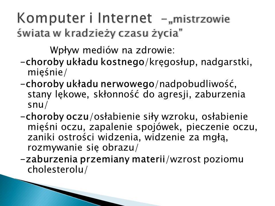 Objawy uzależnienia od Internetu: Silna potrzeba bycia w sieci.