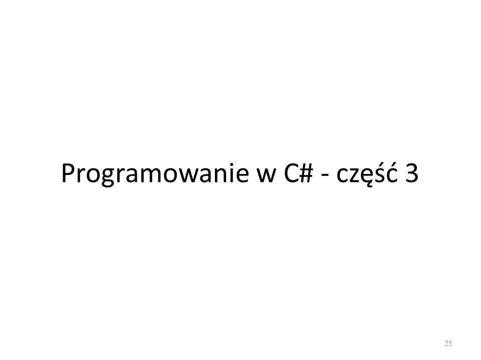 Programowanie w C# - część 3 25