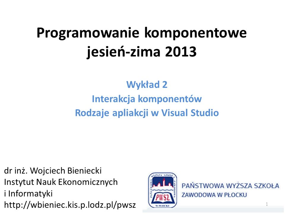 Rodzaje głównych okien Windows 22 Interfejs typu wielodokumentowy MDI (the multiple-document interface) Dokument – reprezentacja pliku w pamięci programu.