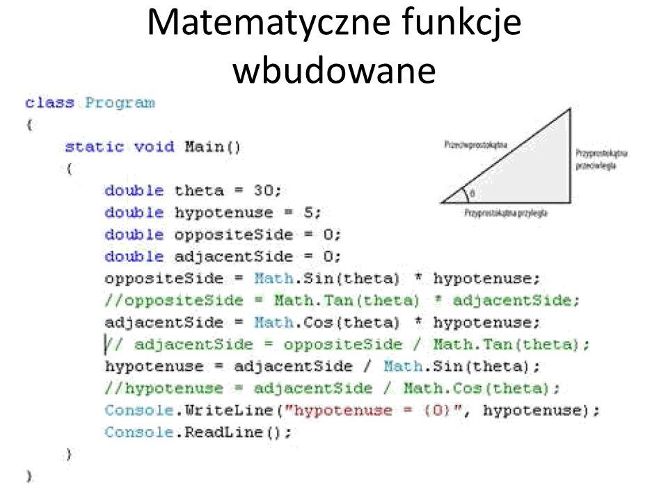 Matematyczne funkcje wbudowane 36
