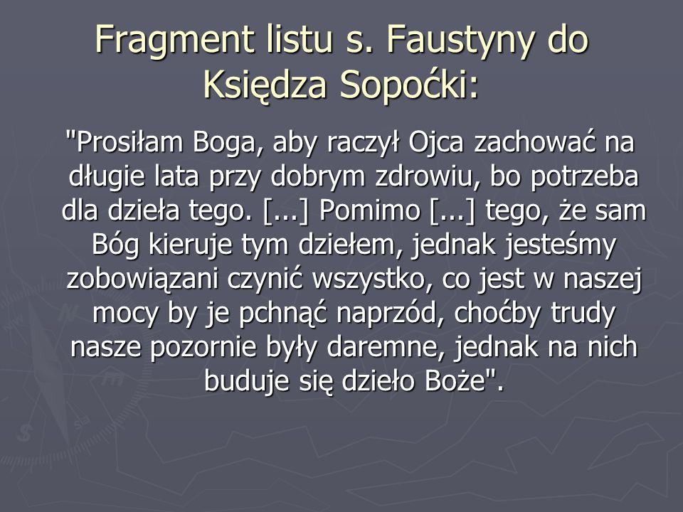Fragment listu s.