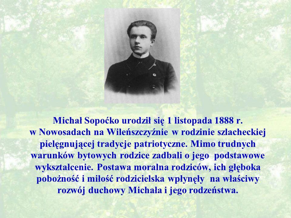 Michał Sopoćko urodził się 1 listopada 1888 r.