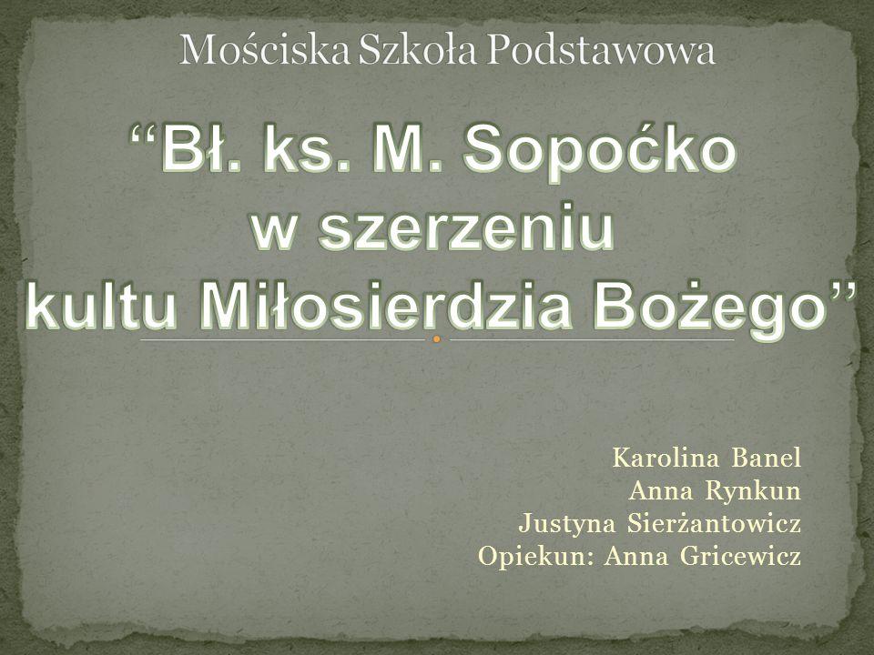Karolina Banel Anna Rynkun Justyna Sierżantowicz Opiekun: Anna Gricewicz
