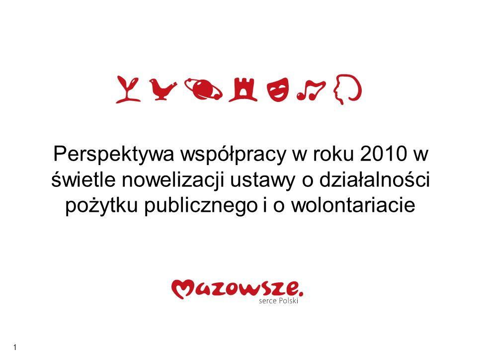 1 Perspektywa współpracy w roku 2010 w świetle nowelizacji ustawy o działalności pożytku publicznego i o wolontariacie