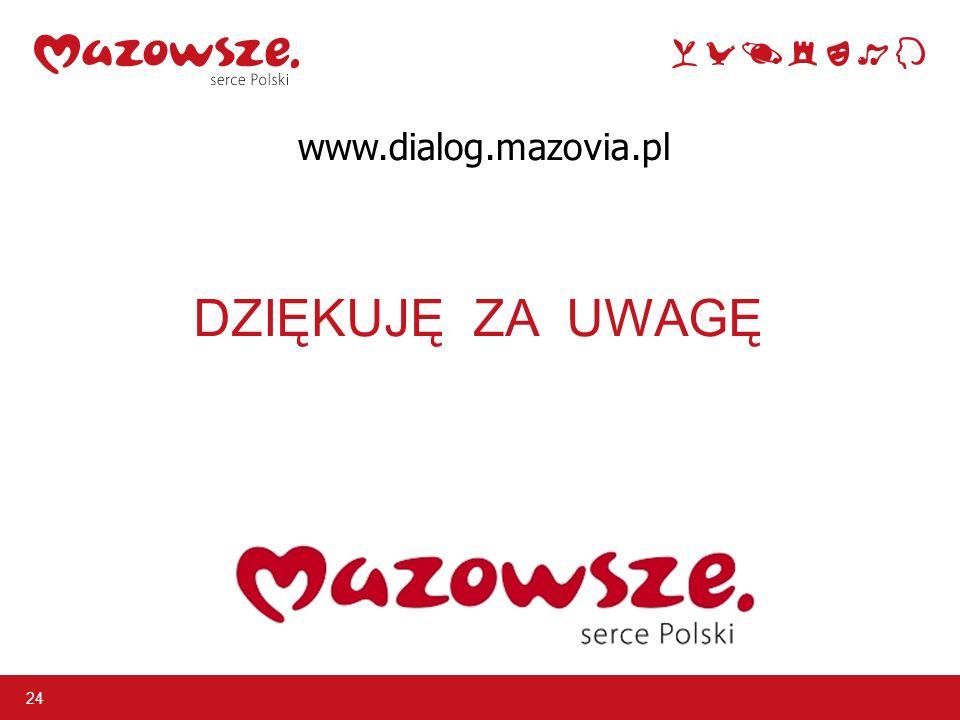 DZIĘKUJĘ ZA UWAGĘ 24 www.dialog.mazovia.pl
