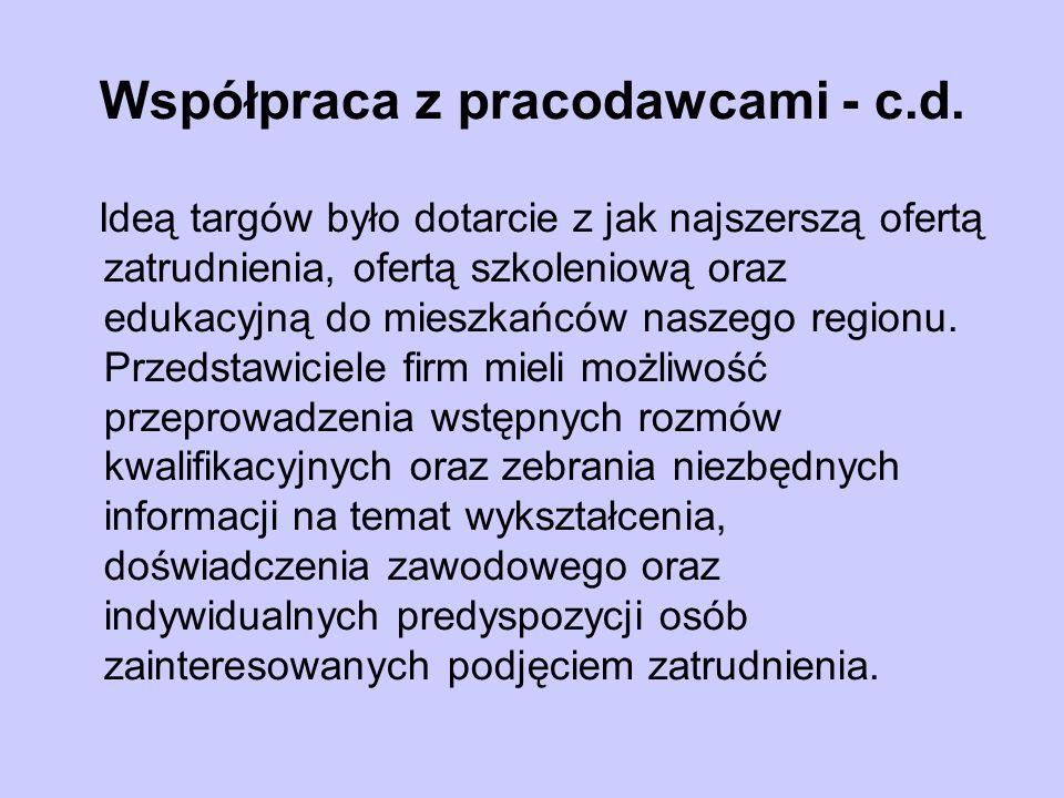 Współpraca z pracodawcami - c.d.