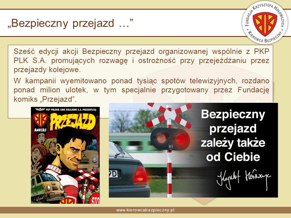 www.kierowcabezpieczny.pl Bezpieczny przejazd … Sześć edycji akcji Bezpieczny przejazd organizowanej wspólnie z PKP PLK S.A.