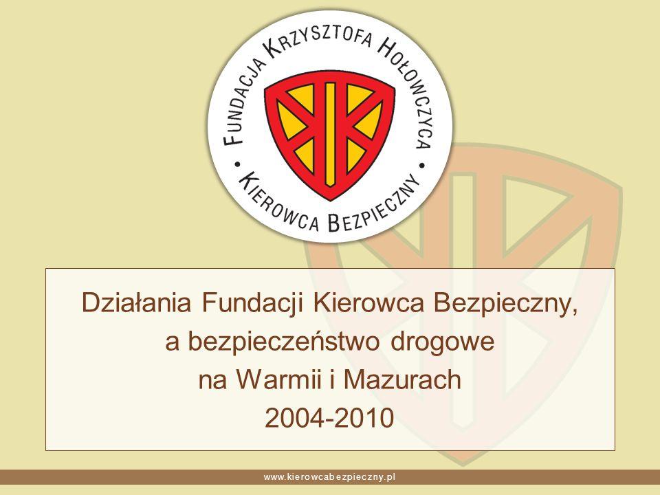 www.kierowcabezpieczny.pl Działania Fundacji Kierowca Bezpieczny, a bezpieczeństwo drogowe na Warmii i Mazurach 2004-2010