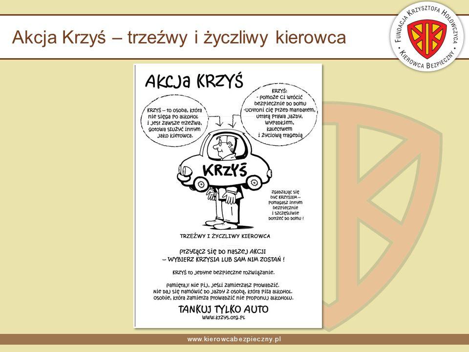 www.kierowcabezpieczny.pl Akcja Krzyś – trzeźwy i życzliwy kierowca