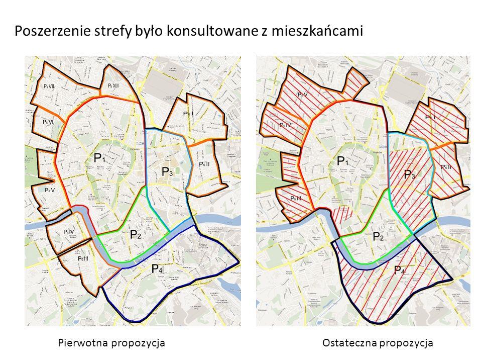 Poszerzenie strefy było konsultowane z mieszkańcami Pierwotna propozycjaOstateczna propozycja