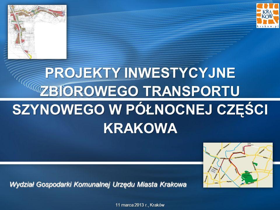 Projekty inwestycyjne zbiorowego transportu szynowego w północnej części Krakowa Projekty inwestycyjne zbiorowego transportu szynowego w północnej części Krakowa slajd | 2 Charakterystyka projektu Analizowany projekt obejmował będzie rozbudowę sieci tramwajowej w północnej części Krakowa.