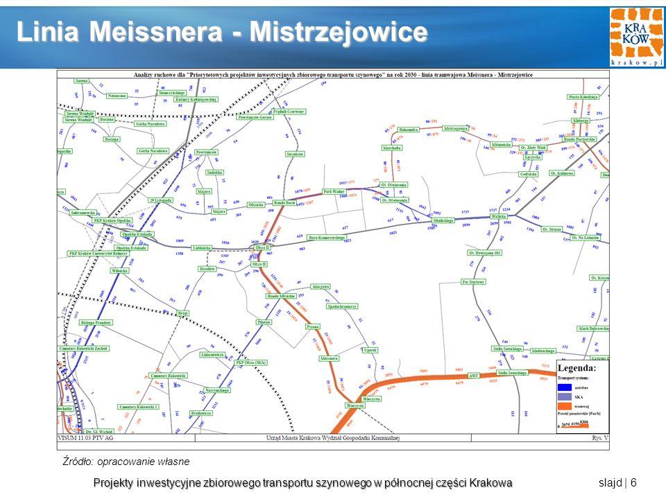 Projekty inwestycyjne zbiorowego transportu szynowego w północnej części Krakowa Projekty inwestycyjne zbiorowego transportu szynowego w północnej części Krakowa slajd | 7 Linia tramwajowa Praca przewozowa - sieć transportu zbiorowego [paskm] Praca przewozowa - sieć tramwajowa [paskm] Praca przewozowa - analizowana linia [paskm] Średni potok pasażerski [pas] Krowodrza Górka - Górka Narodowa1 391 176,28319 349,0127 628,002 878 Meissnera - Mistrzejowice1 385 721,04304 054,3527 872,003 241 Rakowice - Mistrzejowice1 389 166,52312 330,8615 665,001 741 Wskaźniki ruchowe Źródło: opracowanie własne na podstawie danych z MSIP Kolejność realizacji wg pracy przewozowej dla linii Linia tramwajowa 1.Krowodrza Górka - Górka Narodowa 2.Meissnera - Mistrzejowice 3.Rakowice - Mistrzejowice