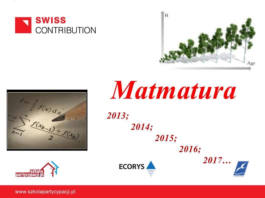 Matmatura 2013; 2014; 2015; 2016; 2017…