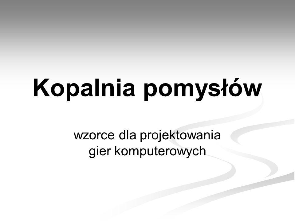 22 Kopalnia pomysłów - IGK 09 - Politechnika Gdańska, ETI, KN Vertex Plusy i minusy Plusy cd.: Plusy cd.: Umożliwiają stworzenie inteligentnej, relacyjnej bazy danych w której możliwe jest wyszukiwanie informacji łańcuchowo lub grupowo – wyszukiwanie powiązanych ze sobą pomysłów, Większa pewność co do spójności gry, Sprawdzone rozwiązania, które są akceptowane przez graczy gwarantują grywalność na określonym poziomie – zwiększona szansa na sukces rynkowy,