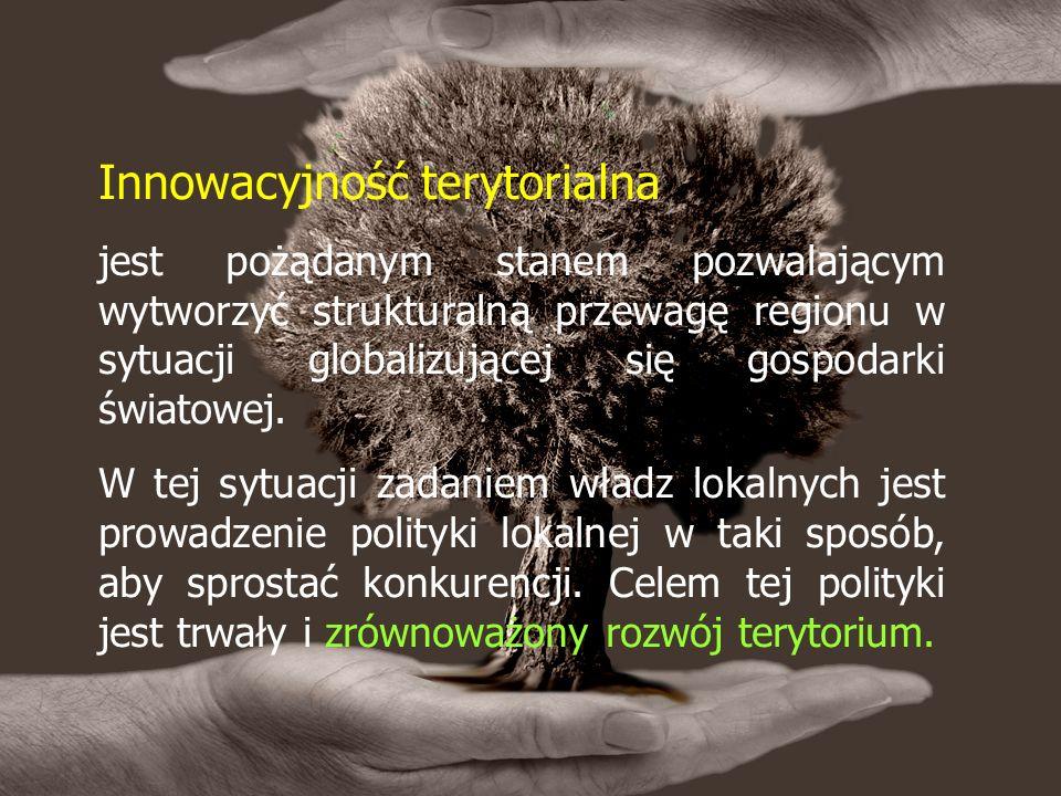 Innowacyjność terytorialna jest pożądanym stanem pozwalającym wytworzyć strukturalną przewagę regionu w sytuacji globalizującej się gospodarki światowej.