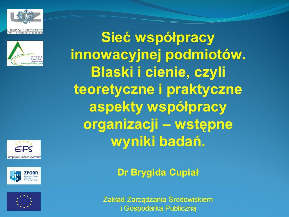 Sieć współpracy innowacyjnej podmiotów.