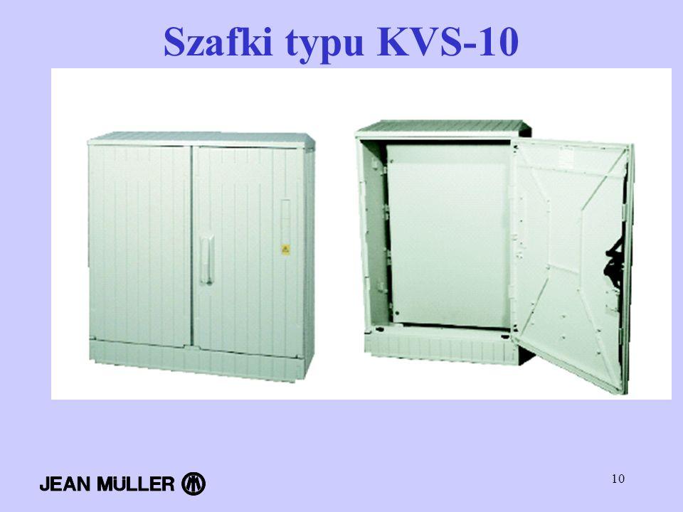 10 Szafki typu KVS-10