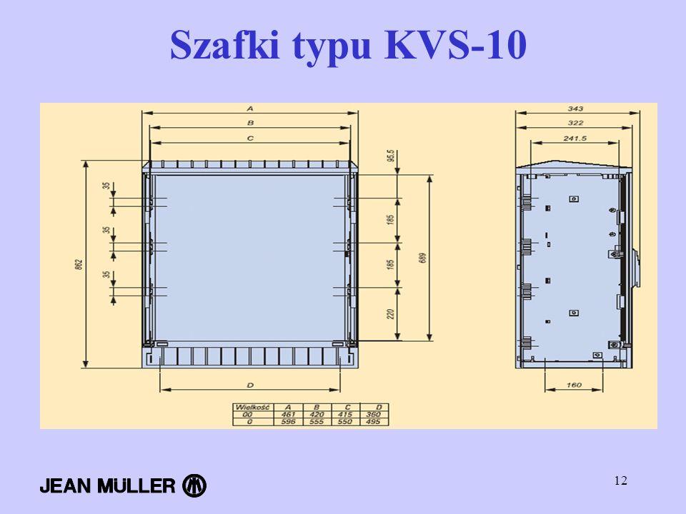 12 Szafki typu KVS-10