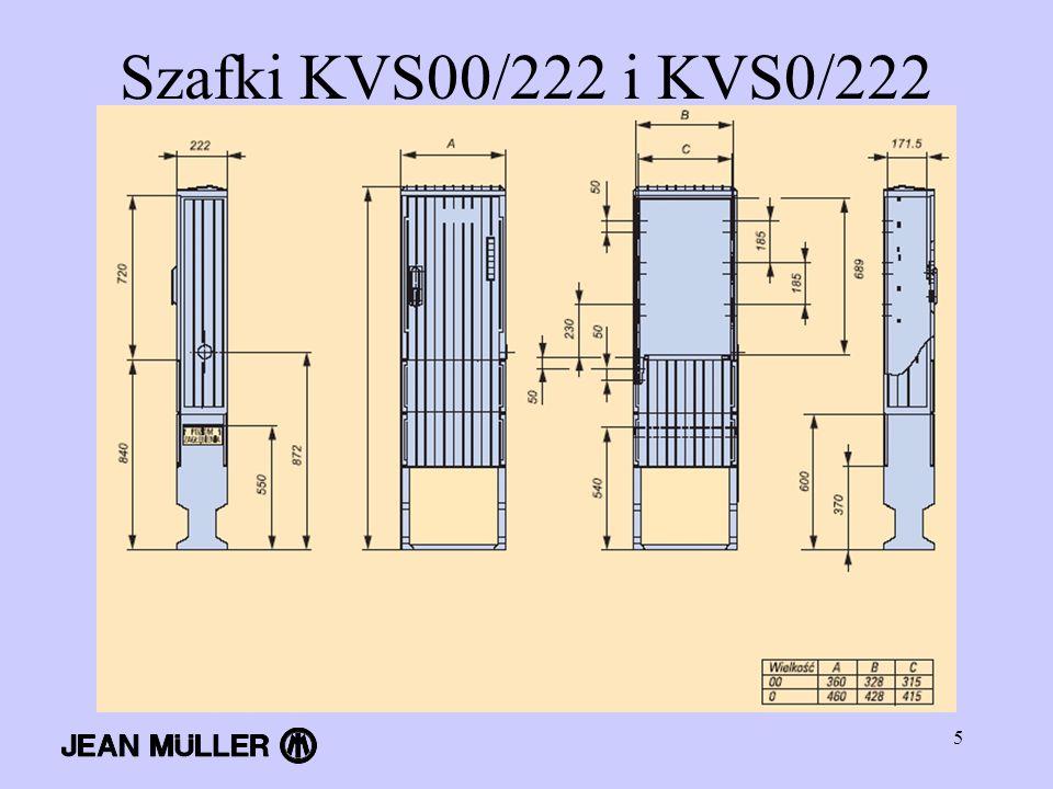 5 Szafki KVS00/222 i KVS0/222