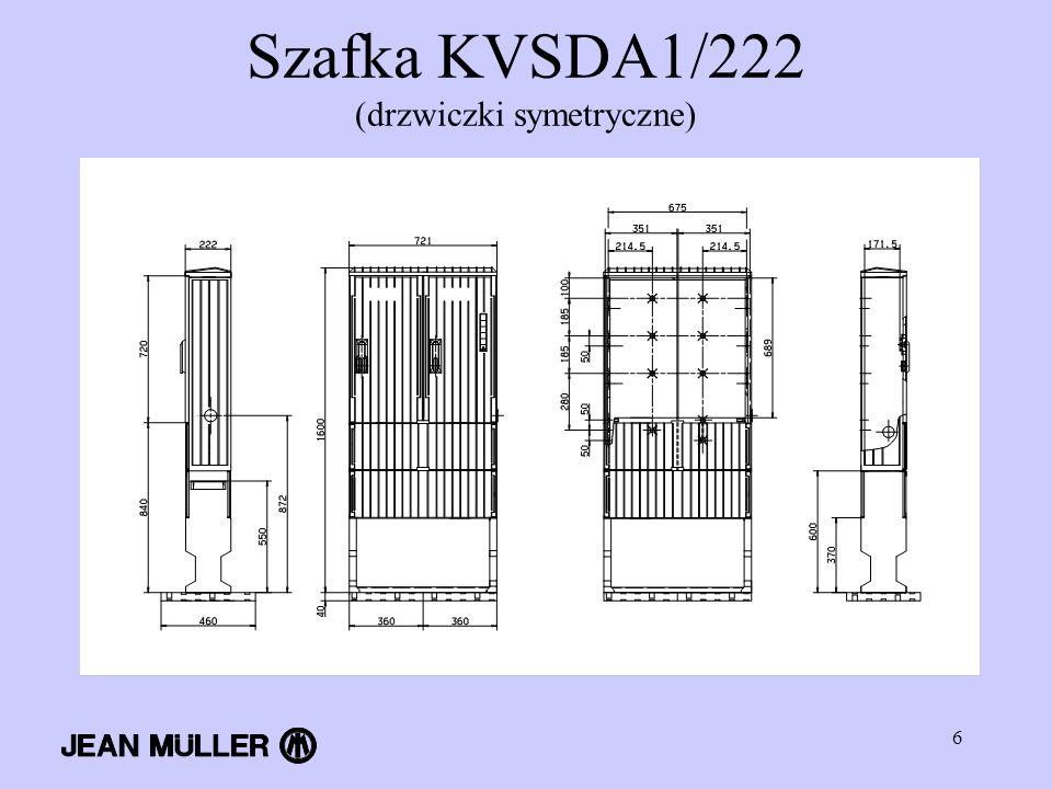 6 Szafka KVSDA1/222 (drzwiczki symetryczne)